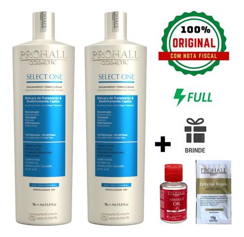 Kit Prohall Escova Progressiva Select One Sem Formol 2x1000ml