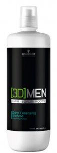 Shampoo Antioleosidade 3D Men Deep Clean Schwarzkopf 1000ml