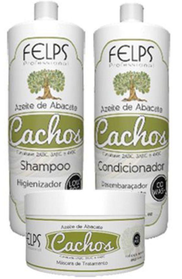 Shampoo + Condicionador + Máscara Felps Cachos Azeite de Abacate
