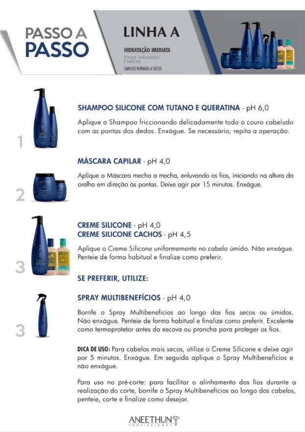 Shampoo de Silicone Aneethun Linha A 1000ml