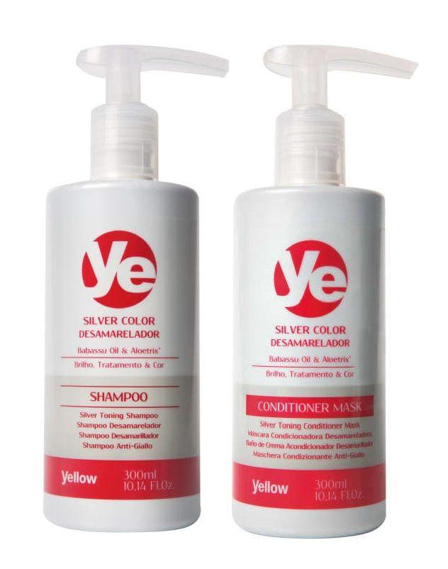 Shampoo e Condicionador Yellow Silver Color 2x300ml
