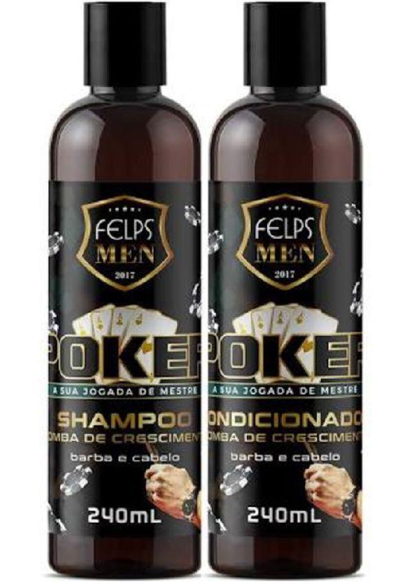 Shampoo e Condicionador Felps Men Poker 2x240ml