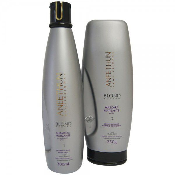 Shampoo e Mascara Matizante Aneethun Blond System