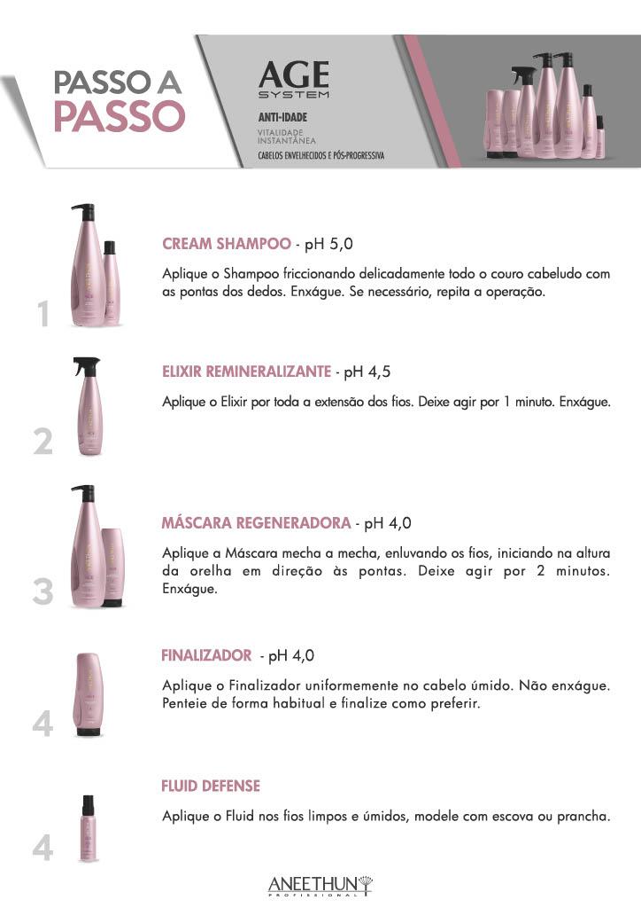 Shampoo e Máscara Regeneradora Aneethun Age System 2x1000ml