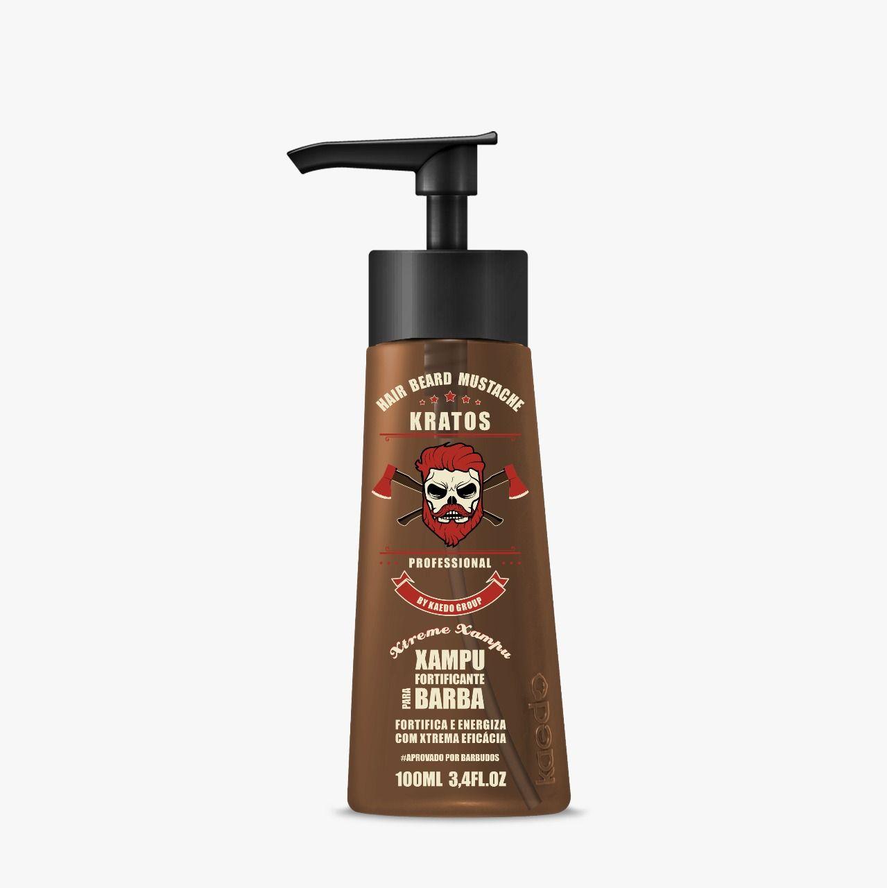 Shampoo Fortificante Xtreme para Barba Kratos Kaedo 100ml