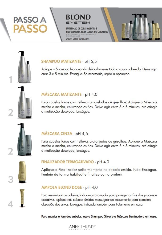 Shampoo Matizante Profissional Aneethun Blond System 1000ml