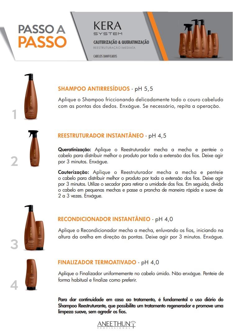Shampoo Reestruturante Aneethun Kera System 300ml