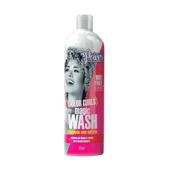 Shampoo Sem Sulfato Soul Power Color Curls Magic Wash 315ml