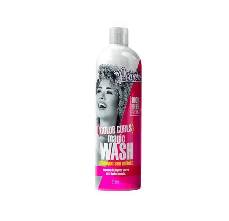 Shampoo Sem Sulfato Soul Power Color Curls Magic Wash 315ml