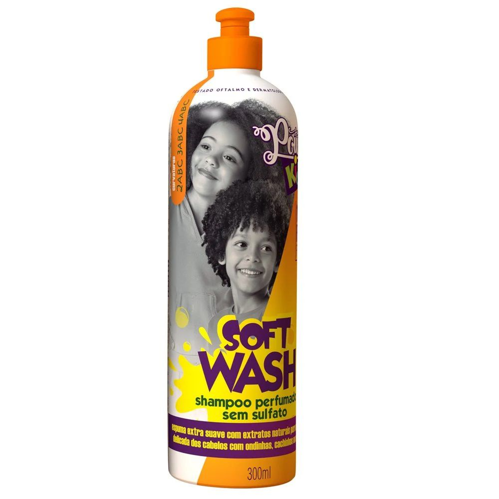 Shampoo Sem Sulfato Soul Power Kids Soft Wash 300ml