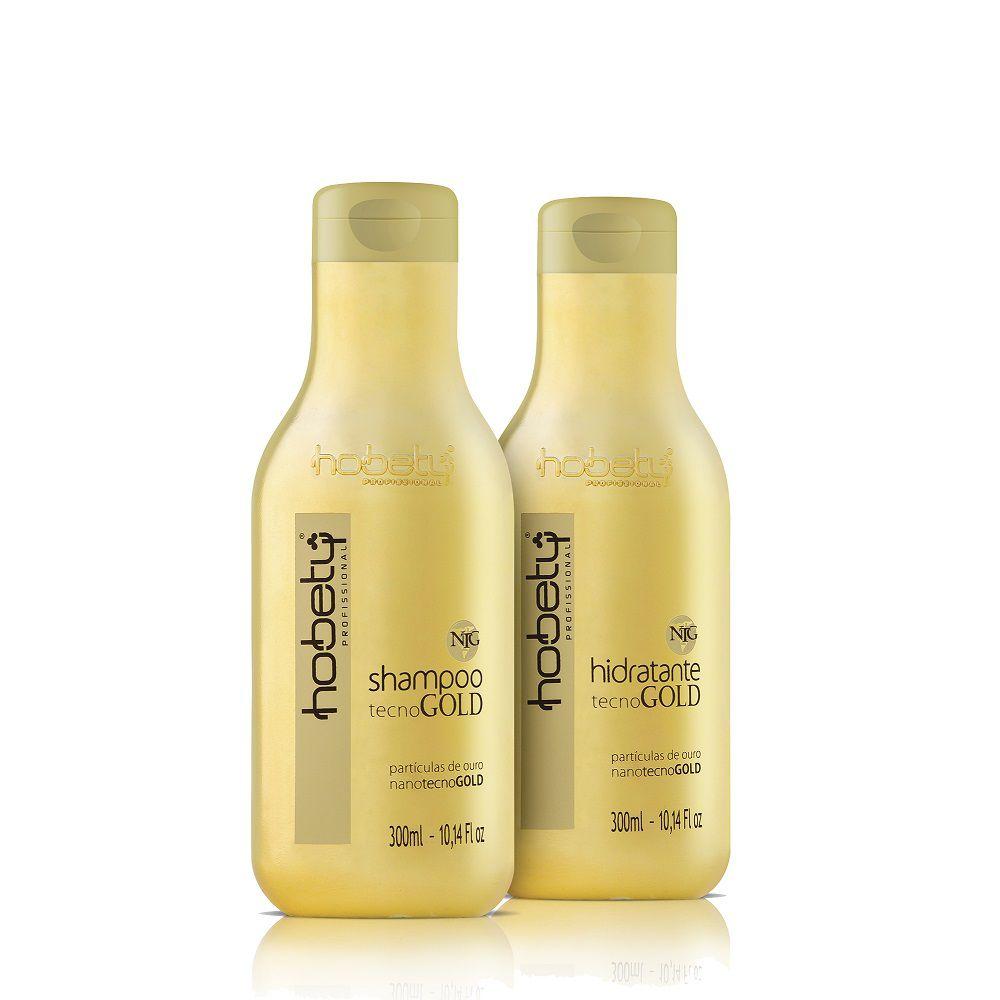 Tecno Gold Hobety Shampoo e Hidratante 2x300ml
