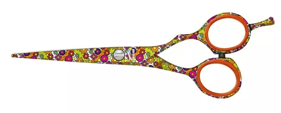 Tesoura Jaguar Flower Power Whiteline Fio Navalha 5.0 Polega