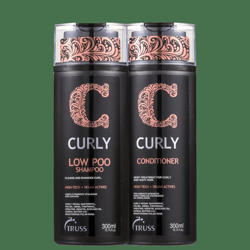 Truss Curly Shampoo Low Poo e Condicionador 2x300ml