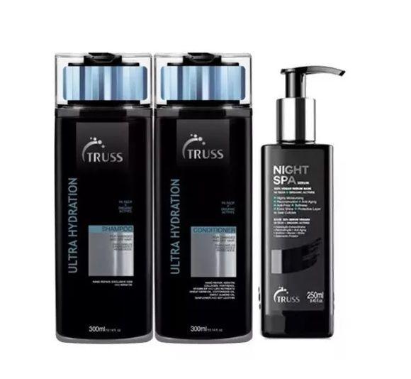 Truss Shampoo e Condicionador Ultra-hidratante e Night Spa