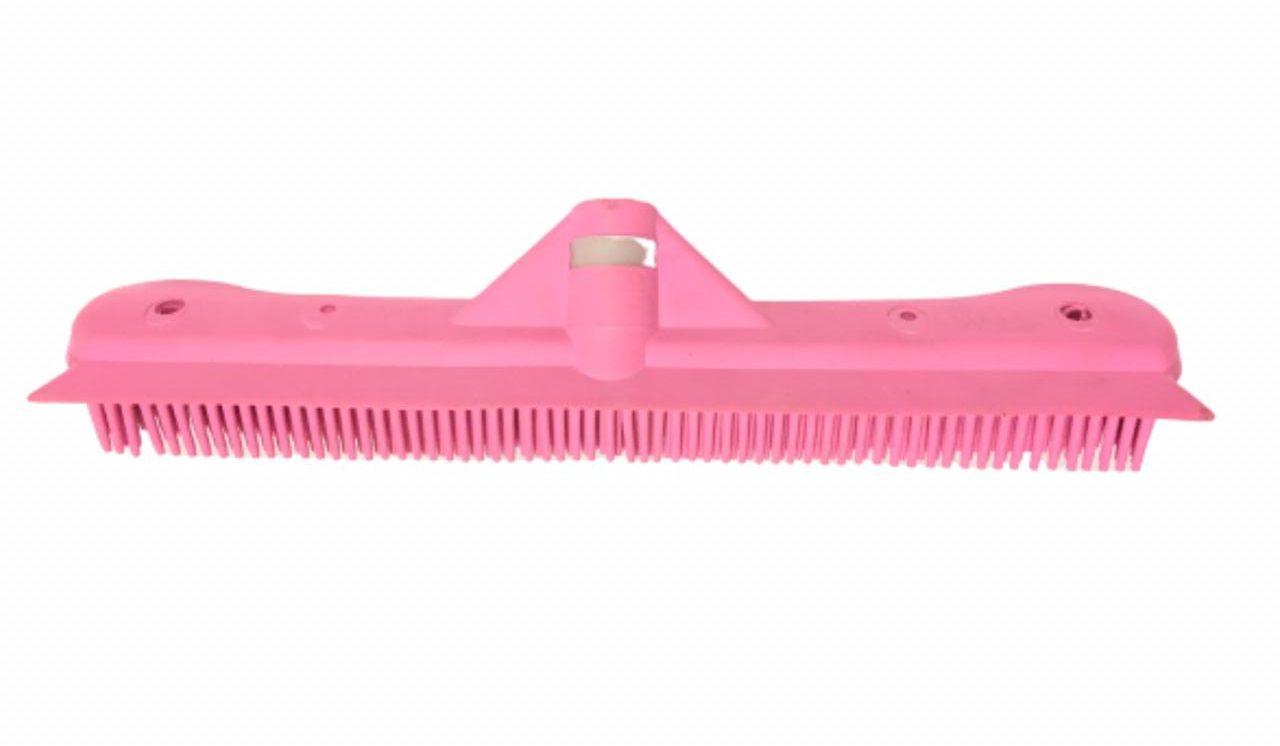 Vassoura Inteligente Rosa para Barbearia e Salão de Beleza