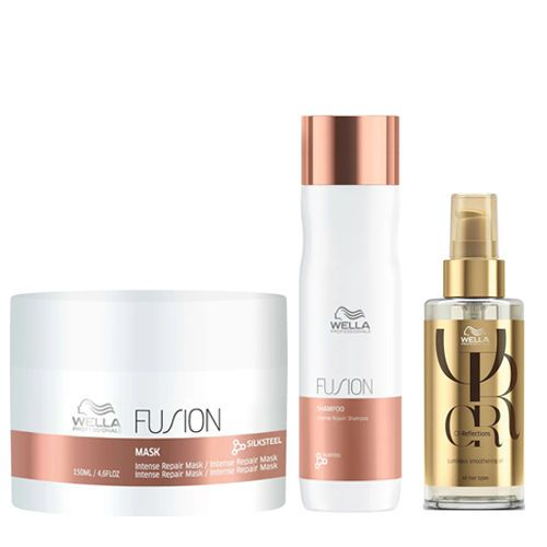 Kit - Máscara + Shampoo + Óleo Wella Fusion