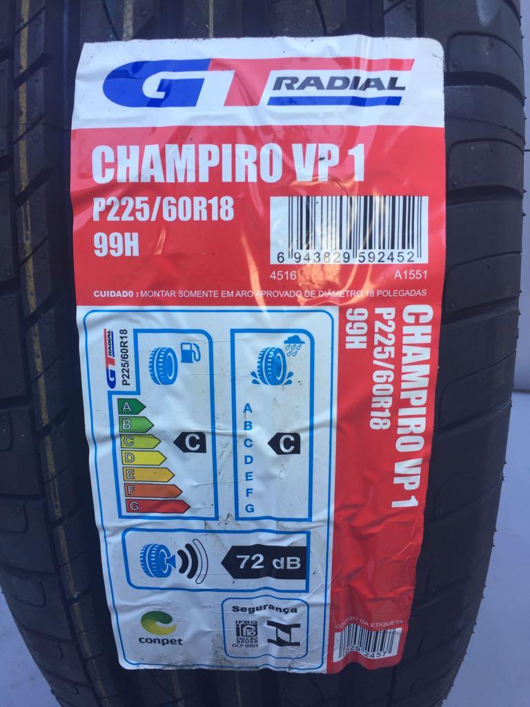 Pneu 225/60R18 GT Radial Champiro VP1 99H (Suzuki  Vitara, Sangyong  Actyon, Honda  CRV, Dodge Charger, Chrysler 300C)