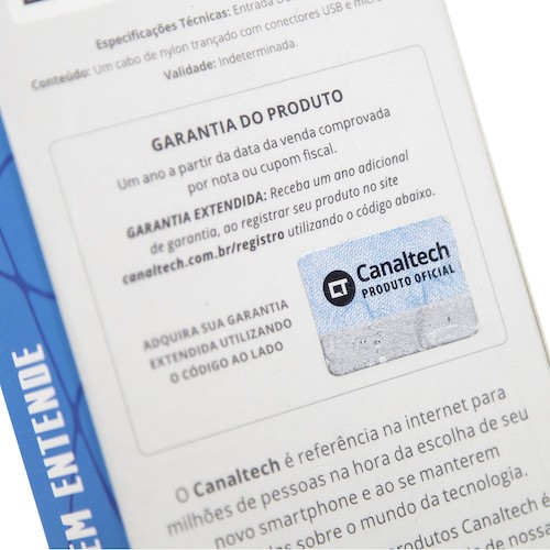 Cabo Canaltech USB Micro-USB Nylon Prata 1m