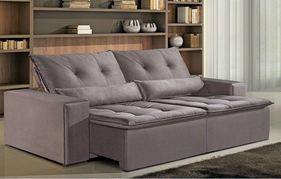 Sof 4 lugares rondom 644 assento retr til e reclin vel for Sofa 4 lugares reclinavel e assento retratil
