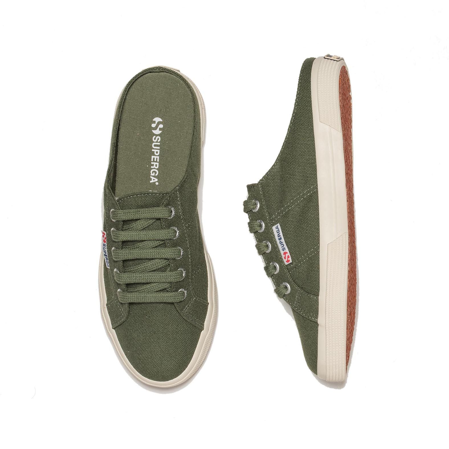 2288 BABUCHE CANVAS MILITARY GREEN