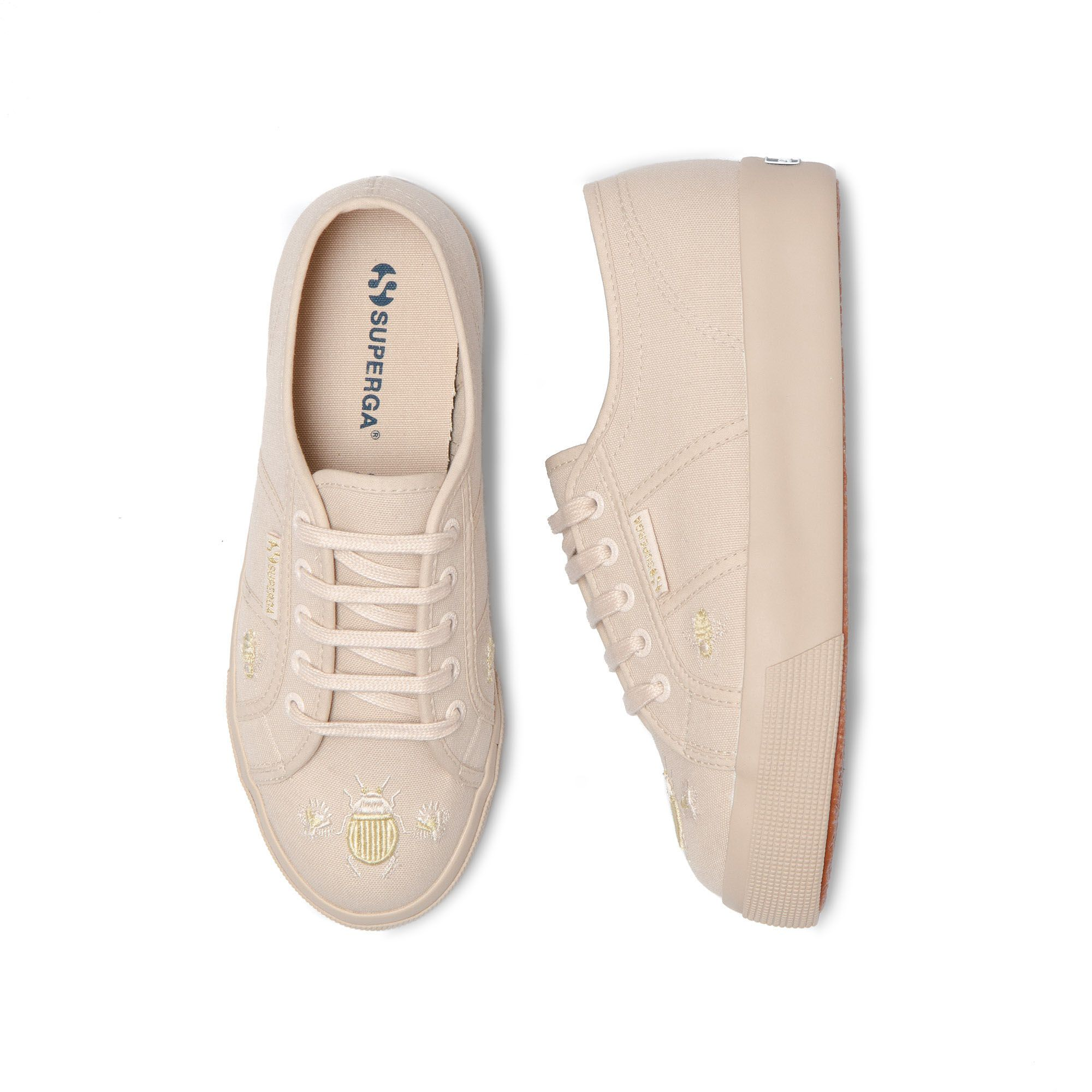 2730 INSECTEMBROIDE FULL BEIGE - GOLD