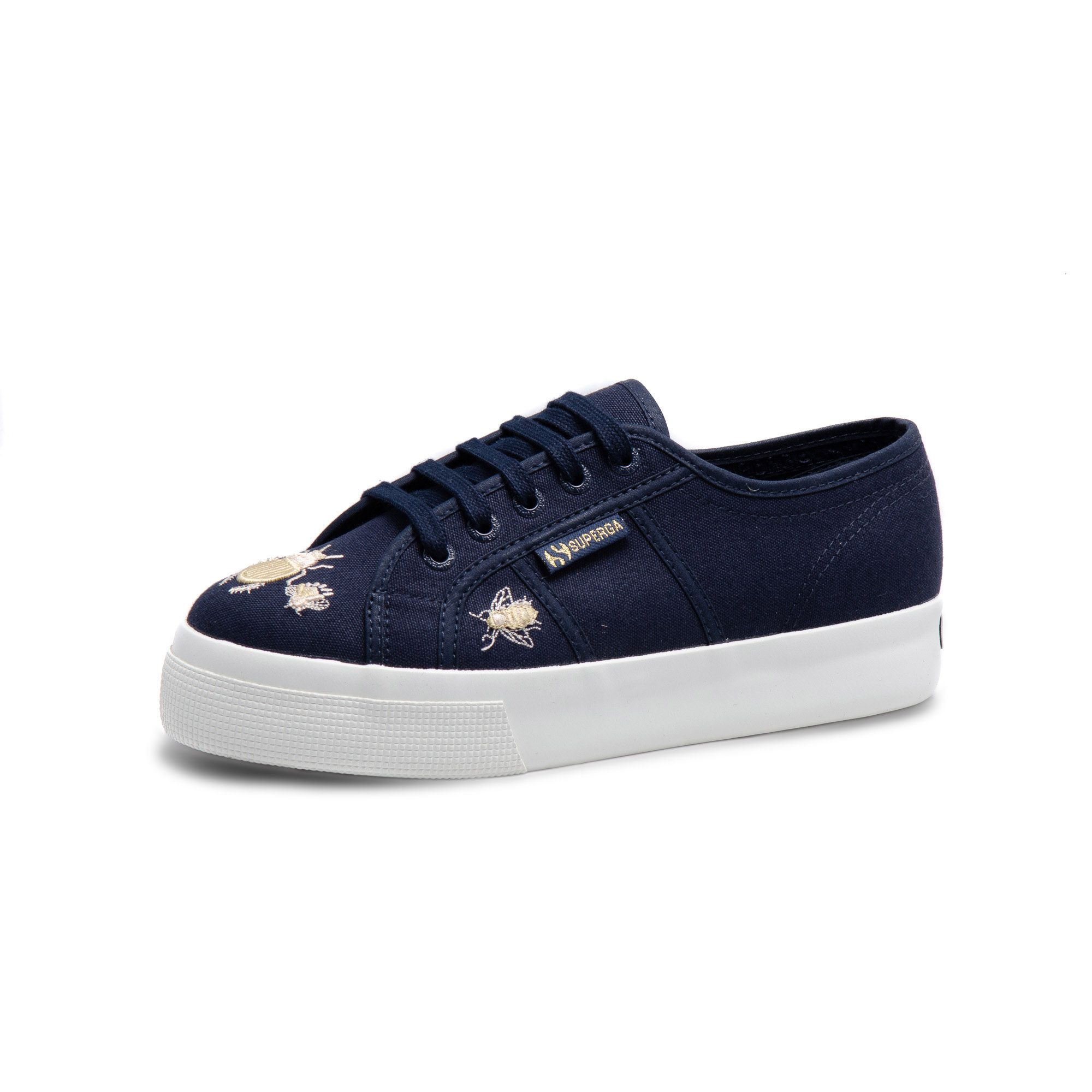 2730 INSECTEMBROIDE NAVY - GOLD INSECT