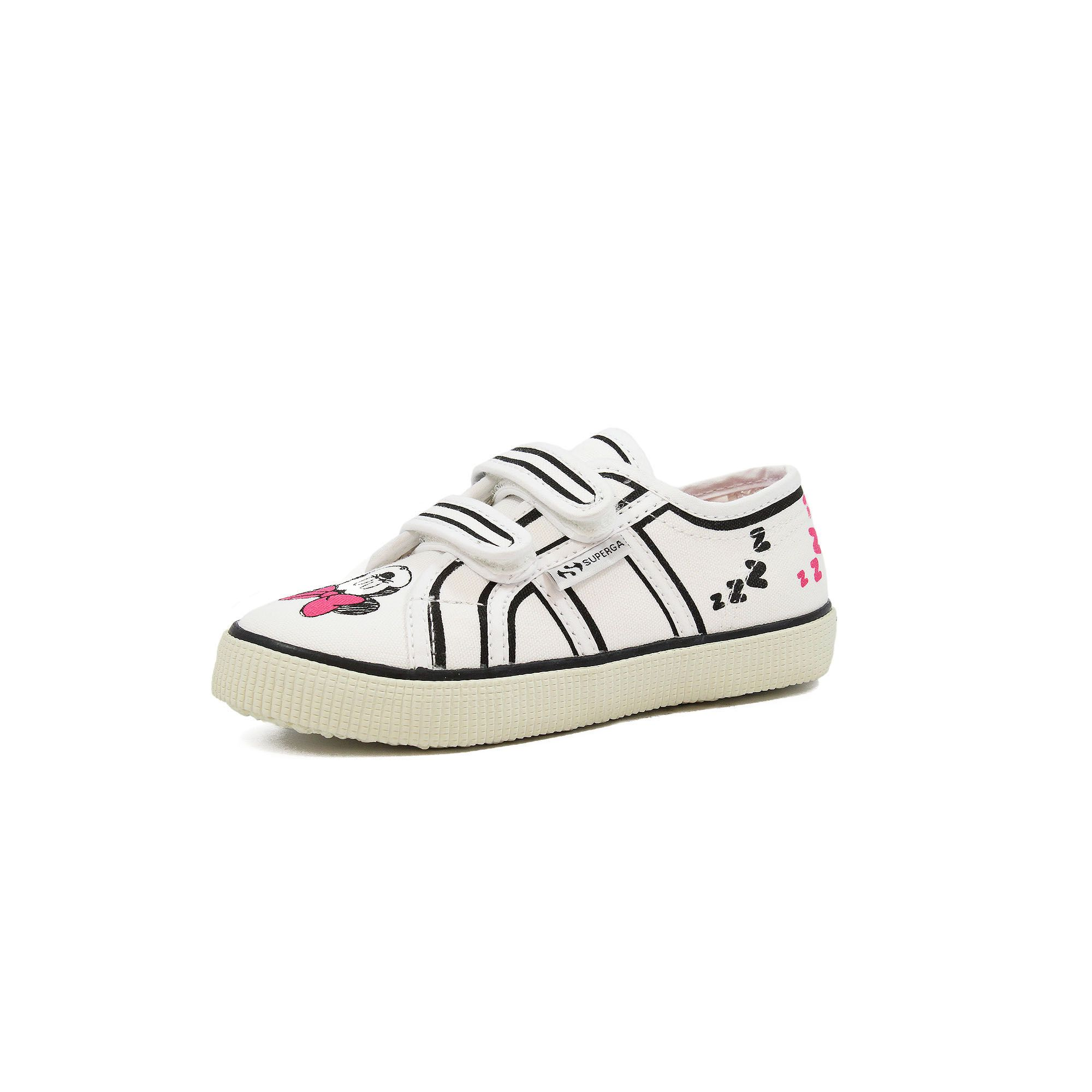 2750 CARTOON  STRAPCOTJ WHITE - FUCHSIA