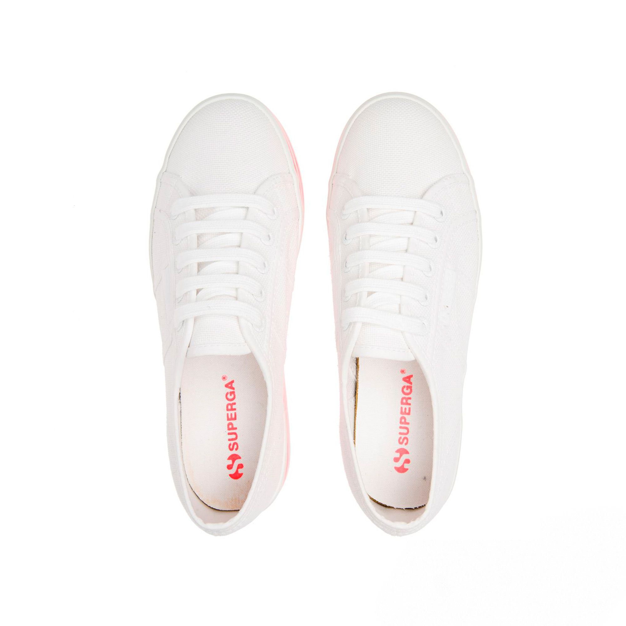 2790-MULTICOLOR COTW- White-Red Fluo Strip