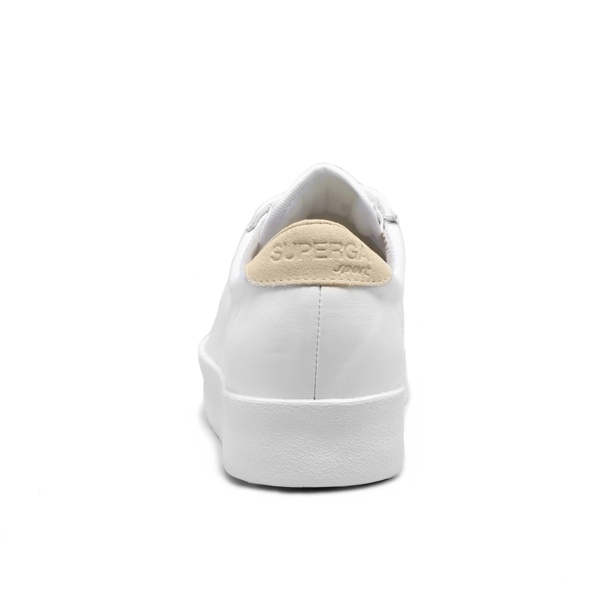 2854-CLUB 3 LEASUEW - White Beige Lt Sand