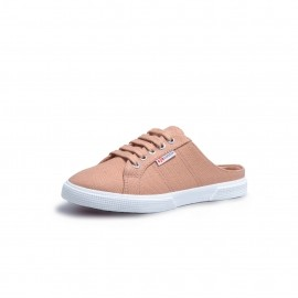 2402 BABUCHE CANVAS KIDS - ROSE MAHOGANY