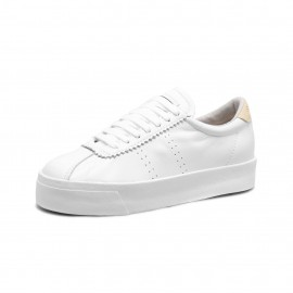 2854-CLUB 3 LEASUEW - White Beige Lt Sand