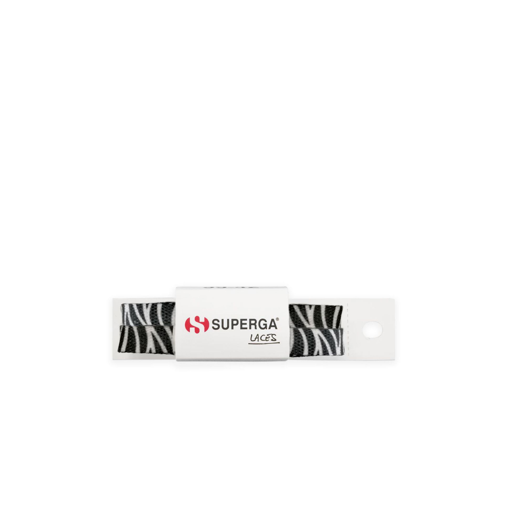FANTASY POLY LACES ZEBRA WHITE-BLACK