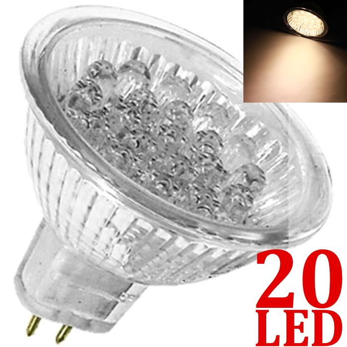 Lâmpada 20 LED Branco Morno MR16 GU5.3