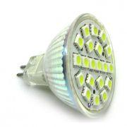 10x Lâmpada 20 LED Branco Frio MR16 GU5.3