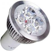 10x Lâmpada 5w Branco 12v + Spot Redondo Alumínio Mr16 Gu5.3