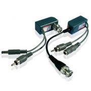 Conversor UTP Par Trançado Video/Audio/Energia Balun PoE Alcance 400m