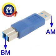 Adaptador USB 3.0 AM p/ BM
