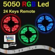 Fita de Led 5m 150 Leds RGB 5050 + Controle Remoto + Fonte 2A