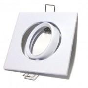 Spot Direcionável Quadrado Branco MR16