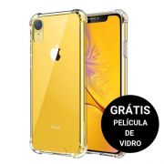 Capinha Anti Shock + Película Vidro Iphone 6 7 8 Plus