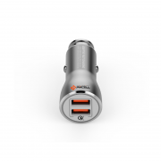 CARREGADOR VEICULAR 5A 2x USB QUALCOMM PMCELL MAXX589 CV-35