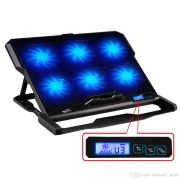 COOLER PAD WITH 6 COOLER   With LCD screen, the speed of fan can be adjusted