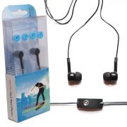 Fone Ouvido Intra-auricular c/ Microfone IP11 Preto