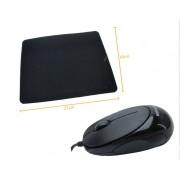 Kit 4: Mouse Otico F398 R8 + Mousepad Antiderrapante Oletech
