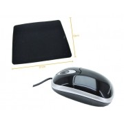 Kit 6: Mouse Optico F303 R8 + Mousepad Antiderrapante Oletech