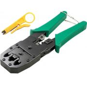 Kit Alicate de crimpar RJ45 RJ11 + Decapador + 200 Conectores Cat5e RJ45