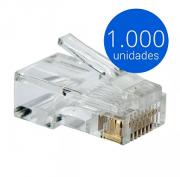 Kit Conector Cat5e RJ45 (1000 unidades)