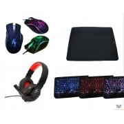 Kit Gamer 1 teclado + mouse + mousepad + fone de ouvido