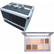 Kit Maleta Preta + Paleta Ruby Rose Perfect Me Iluminador Contorno HB 7509/L