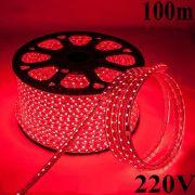 Mangueira led SMD 5050 Prova D´água 220V (5W, 60led/m) Vermelho (100m)